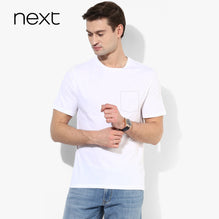 Next T Shirt Pocket Style For Men Cut Label-White-BE2570