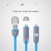 Micro USB 8pin Dual 2 in 1 Sync Data Charger Cable-NA5115