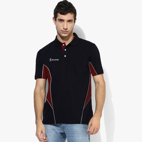 KUKRI Stylish Polo Shirt For Kid-Black & Red-BE2700