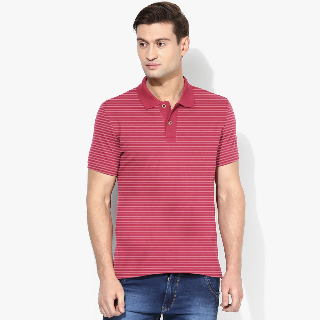 Men's Cut Label Fat Face Stylish Striper Polo Shirt -NP07