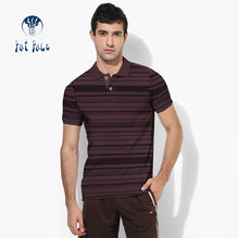 Fat Face Polo For Men Cut Label-Brown with Stripes-BE2564