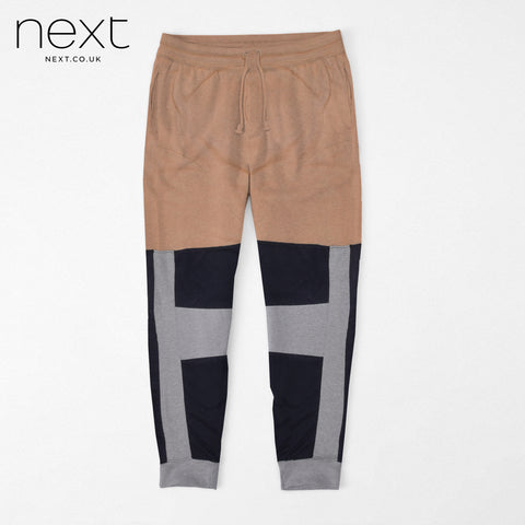 N.Y.C Fleece Jogger Trouser For Men Cut Label-Dark Salmon & Dark Navy-NA914