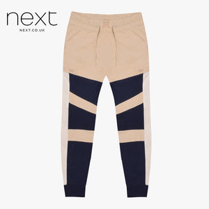 N.Y.C Fleece Jogger Trouser For Men Cut Label-Light Cream & Dark Navy Lining-NA912