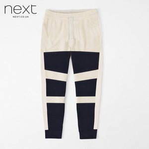 N.Y.C Fleece Jogger Trouser For Men Cut Label-Off White & Dark Navy-NA913