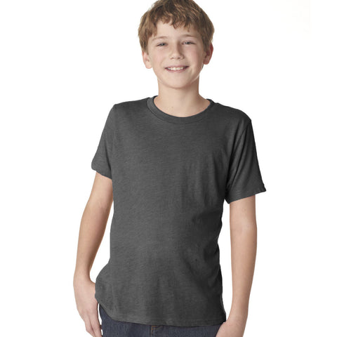B Quality Fassion Crew Neck T Shirt For Boys-Dark Gray-BE795