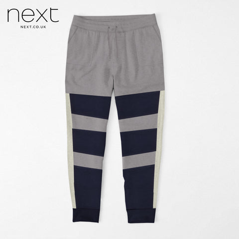 NEXT Fleece Jogger Trouser For Men Cut Label-Grey, Dark Navy-BE4377
