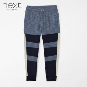 NEXT Fleece Jogger Trouser For Men Cut Label-Light Navy Melange, Dark Navy-BE4376