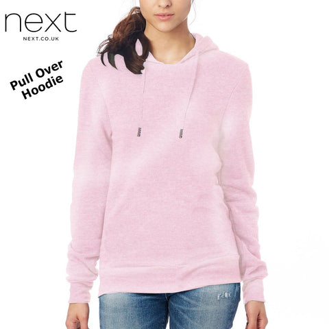 NEXT Fleece Pull Over Hoodie For Ladies-Light Pink-NA447
