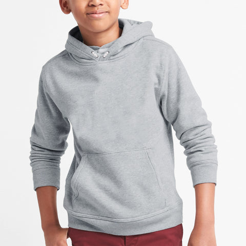 NEXT Fleece Pullover Hoodie For Boys-Grey Melange-BE4147