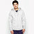NEXT Fleece Zipper Hoodie For Men-Off White Melange-NA6343