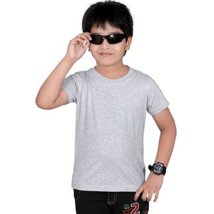 NEXT Half Sleeve Single Jersey T Shirt For Boys-Gray-NA1250