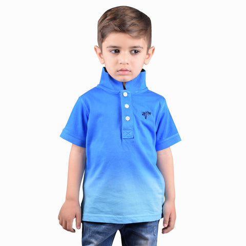 NEXT Polo Shirt For Kids-Blue & Sky-BE4364