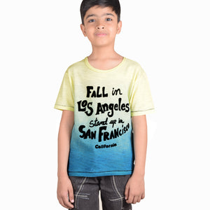 ChenOne T Shirt For Kids-Yellow & Zink-BE4360