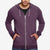 NEXT Terry Fleece Full Zipper Hoodie For Men-Light Maroon Melange-BE4078
