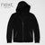 NEXT Terry Fleece Zipper Hoodie For Men-Black-NA620