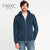 NEXT Terry Fleece Zipper Hoodie For Men-Dark Blue-NA618