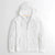 NEXT Thermal Raglan Sleeve Full Zipper Hoodie For Men-White-NA6861