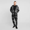 NK Slim Fit Terry Fleece Zipper Track Suit For Men-Black Camo-NA10165