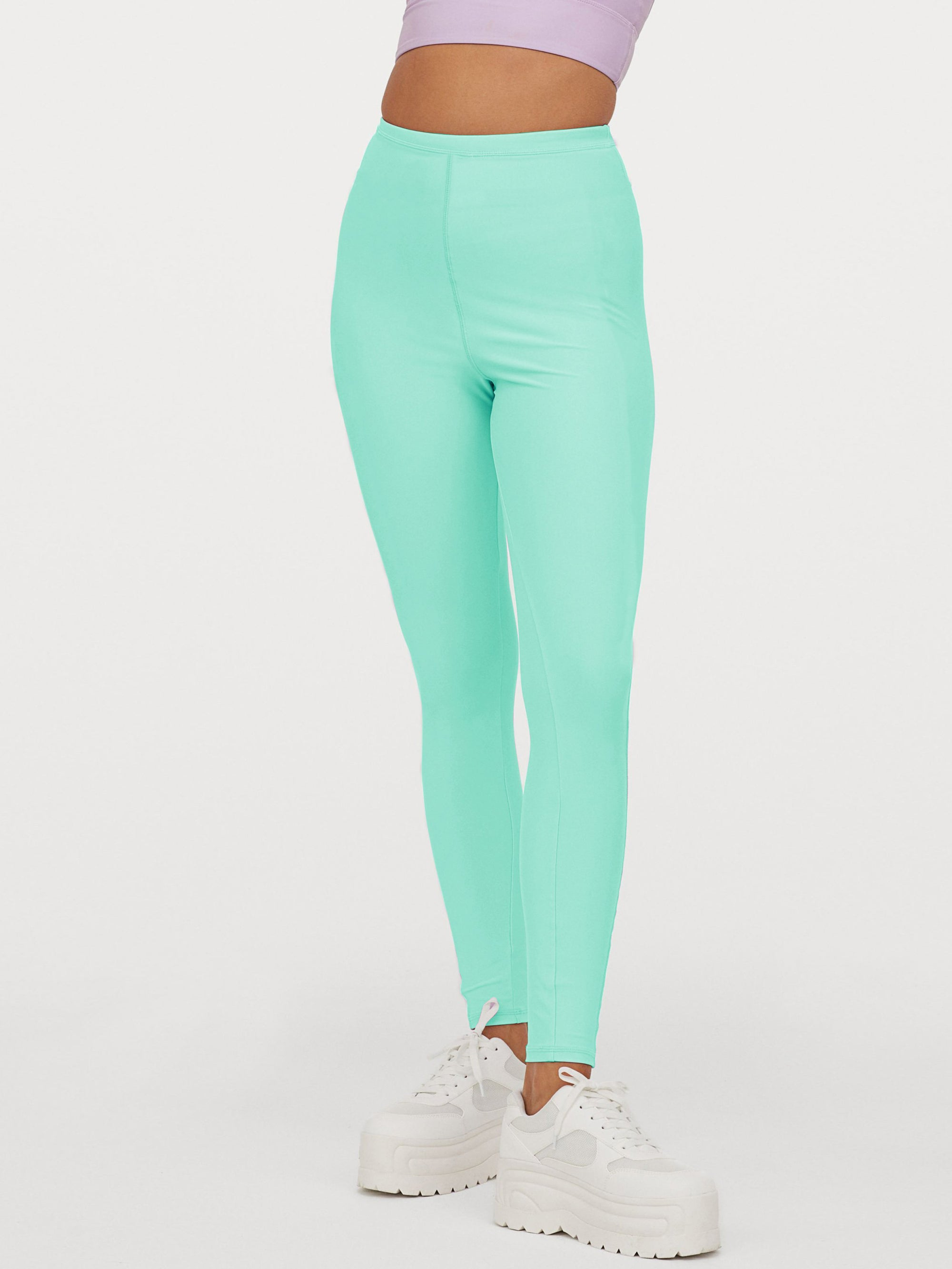 NK Leggings For Women-Light Sea Green-NA11074