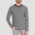 NYC Crew Neck Long Sleeve Tee Shirt For Men-ATHLETIC GREY STRIPE-NA6591
