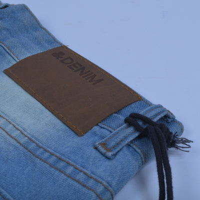 Nancy &Denim Slim Fit Non Stretch  Grinded Denim For Men-(S19)-Sky Blue Faded-NA9410