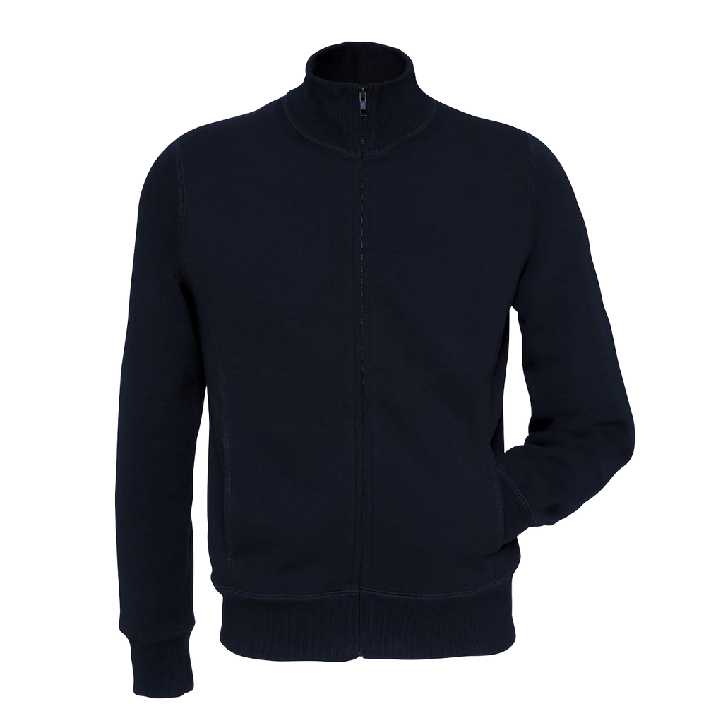 Men's B&C Fashion Full Zipper Navy  Mock Neck-m05
