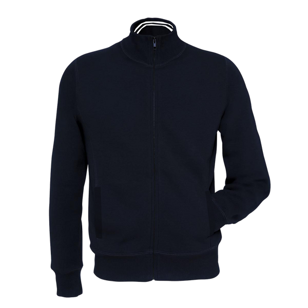 Men's B&C Fashion Full  Zipper Navy  Mock Neck-M073