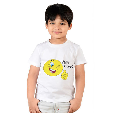 Kids Very Good Tee Shirt-White-DK558