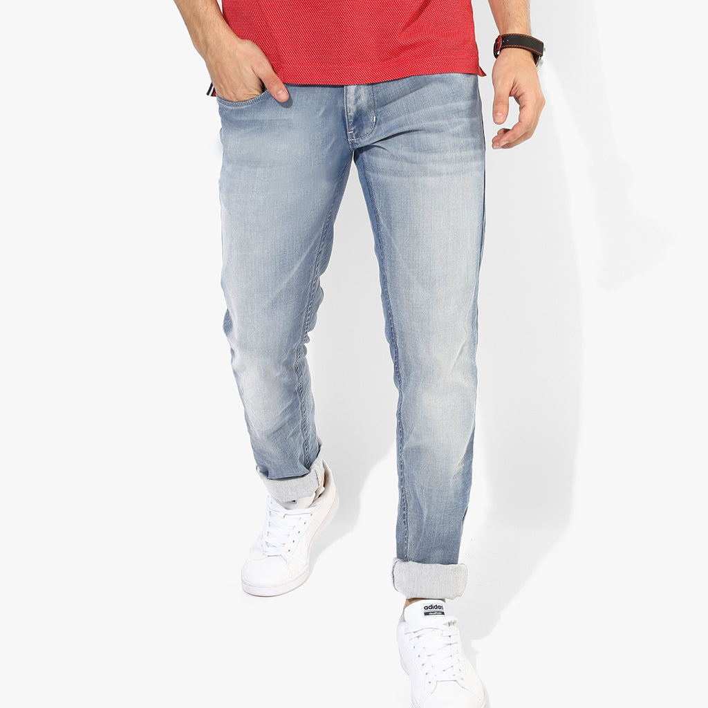 New Caro Jeans Slim Fit Faded For Men-Light Sky-NCJ03