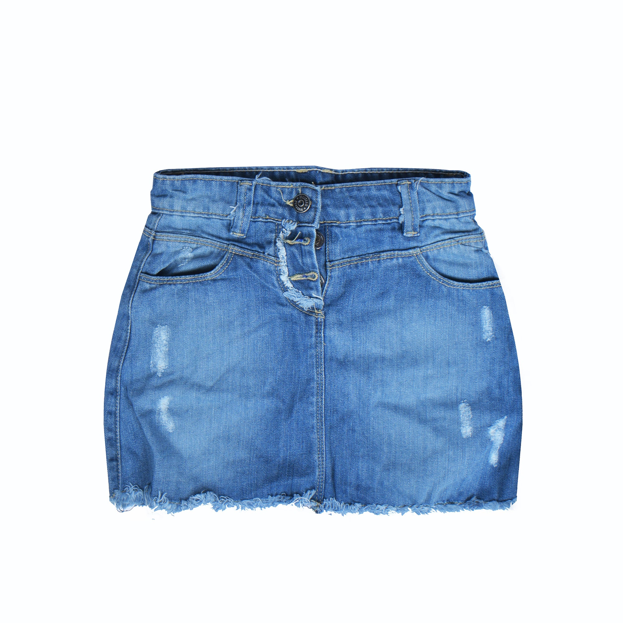 New Look Denim Short For Ladies-Blue Faded-NA8786