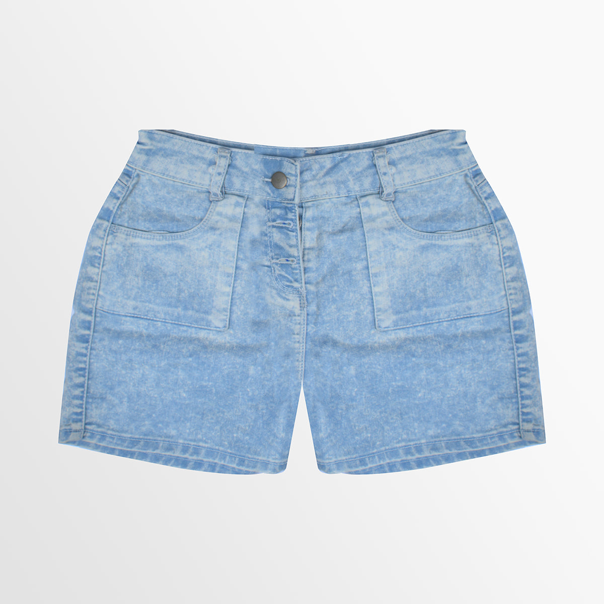 New Look Denim Short For Ladies-Dirty Blue Faded-NA8790