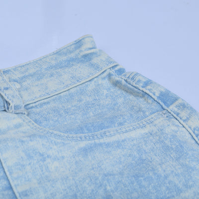 brandsego - New Look Denim Short For Ladies-Dirty Blue Faded-NA8790