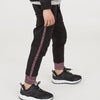 New Look Single Jersey Jogger Trouser For Kids-Black With Maroon Melange Panel-BA00215