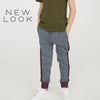 New Look Single Jersey Jogger Trouser For Kids-Gray Melange & Burgundy Melange-NA1155