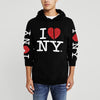 New York Popular Fleece Pullover Hoodie For Men-Black-NA9916