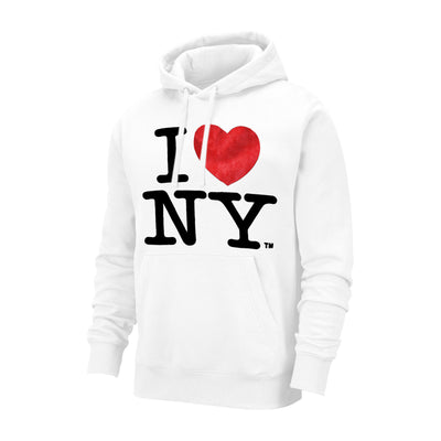 New York Popular Fleece Pullover Hoodie For Men-White-NA10015
