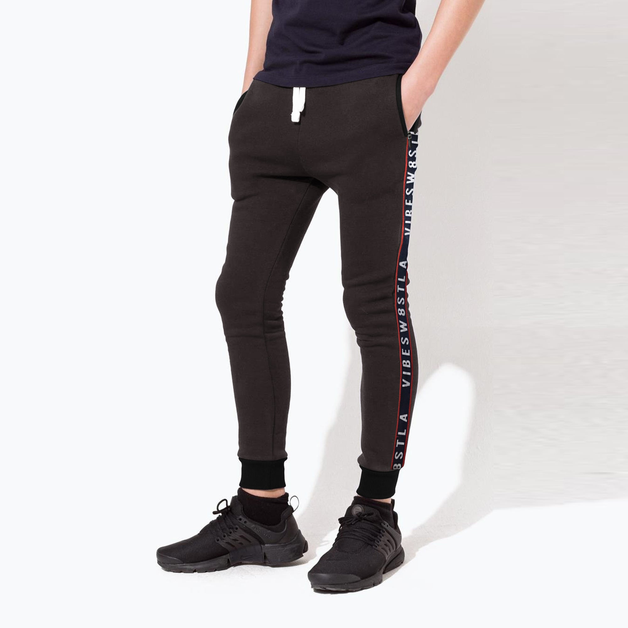 Next Slim Fit Jogger Trouser For Kids-Rosy Black-NA11050