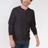 M&S 1/1 Rib Henley Shirt For Men-Light Chocolate-BE6101