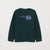 Next Crew Neck Raglan Sleeve Terry Fleece Sweatshirt For Kids-Cyan Green-NA6806