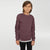 Next Crew Neck Fleece Sweatshirt For Kids-Dark Orchid-NA6600