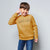 Next Crew Neck Raglan Sleeve Fleece Sweatshirt For Kids-Golden Melange-NA6598