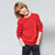 Next Crew Neck Fleece Sweatshirt For Kids-Red-NA6593