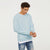 Next Crew Neck Fleece Sweatshirt For Men-Light Pale Blue-NA6579