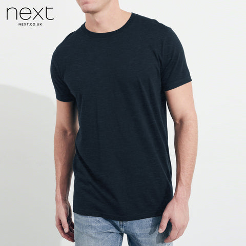 Next Crew Neck Half Sleeve T Shirt For Men-Navy Melange-BE4483