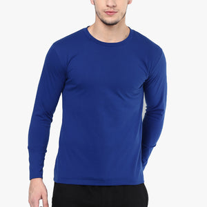 Next Crew Neck Long Sleeve Shirt For Men-Blue-BE4492