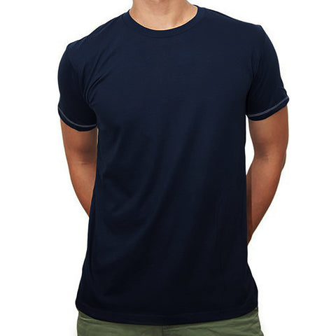 Next Crew Neck T Shirt For Men-Dark Navy-BA00029