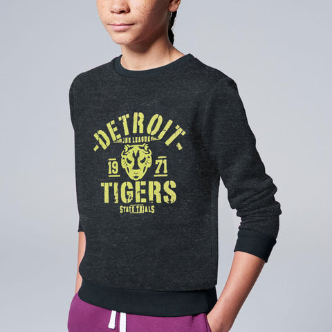 Next Fleece Crew Neck Sweat Shirt For Kids-Charcoal Melange-BE4096