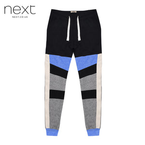 Next Fleece Jogger Trouser For Men Cut Label-Black, Grey Melange-BE4380