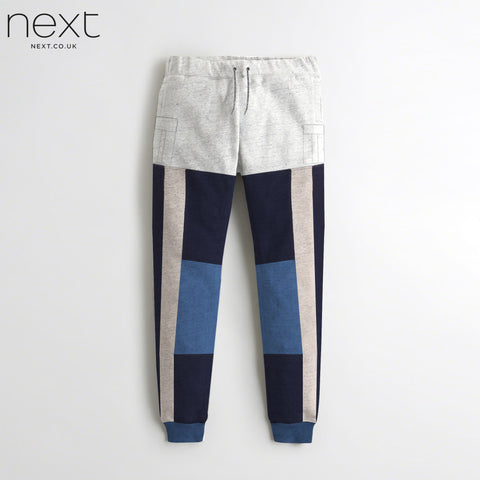 Next Fleece Jogger Trouser For Men Cut Label-Grey Melange-Dark Navy-BE4365