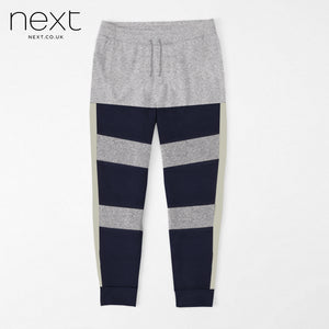 Next Fleece Jogger Trouser For Men Cut Label-Grey Melange & Navy Lining-BE4378